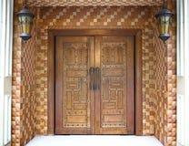 Indische houten deur Stock Foto
