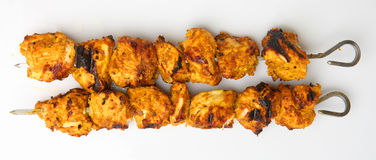 Indische Huhn-Tikka-Kebabs Stockfotografie