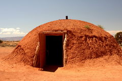 Indische hut bij monumentenvallei Stock Afbeelding