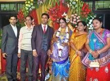 Indische Huwelijksceremonie Stock Foto's