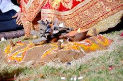 Indische Huwelijksrituelen royalty-vrije stock afbeelding
