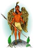 Indische inheemse Amerikaan met vleugels Royalty-vrije Stock Afbeeldingen