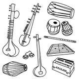 Indische Instrumente vektor abbildung