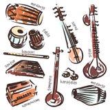Indische Instrumente stock abbildung