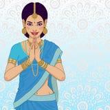 Indische jonge vrouw Royalty-vrije Stock Afbeeldingen