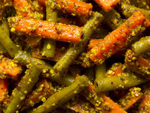 Indische Karotte- und Bohnenessiggurke stockfoto