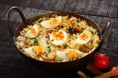 Indische keuken - heerlijke eibiriyani, royalty-vrije stock foto's