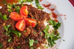 Indische keuken - Lamsvlees Royalty-vrije Stock Fotografie