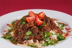 Indische keuken - Lamsvlees Royalty-vrije Stock Afbeelding