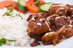 Indische keuken - Lamsvlees Stock Afbeeldingen