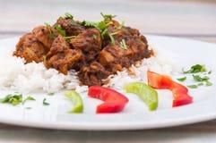 Indische keuken - Lamsvlees Stock Foto's