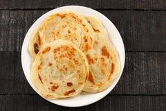 Indische keuken - paratha royalty-vrije stock foto's
