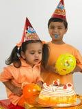 Indische kinderenverjaardag stock foto's