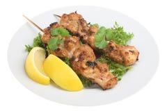 Indische Kip Tikka Kebabs Royalty-vrije Stock Fotografie