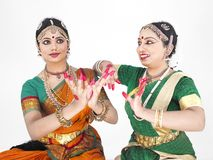 Indische klassieke vrouwelijke dansers Stock Foto