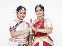 Indische klassieke vrouwelijke dansers Royalty-vrije Stock Fotografie