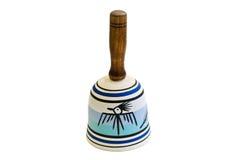 Indische kleine Bell auf einem weißen Hintergrund lizenzfreie stockfotografie