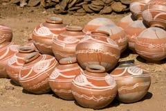 Indische kleipot Stock Afbeelding
