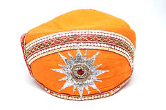 Indische Kopfbedeckung oder Turban Stockfotografie