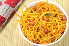 Indische kruidige snack stock foto's