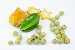 Indische kruisbes en starfruit royalty-vrije stock foto's