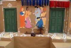 Indische Kunst tijdens Festival Durga Stock Foto's