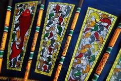 Indische Kunst während des Durga Festivals Stockfotografie