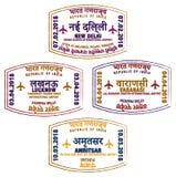 Indische Luchthavenzegels royalty-vrije illustratie