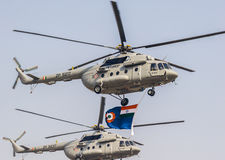 83. indische Luftwaffen-Tagesparade an der Hindan-Luftwaffen-Station Lizenzfreie Stockfotos