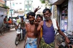 Indische Männer auf der Straße von Madurai Lizenzfreies Stockbild