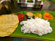 Indische maaltijd Royalty-vrije Stock Afbeeldingen