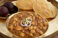 Chole Puri stock afbeelding