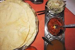 Indische Mahlzeit in Brighton Lizenzfreies Stockfoto