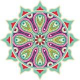 Indische Mandala Royalty-vrije Stock Afbeeldingen