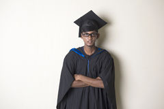 Indische mannelijke gediplomeerde Royalty-vrije Stock Afbeeldingen
