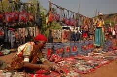 Indische markt. Toebehoren Royalty-vrije Stock Foto