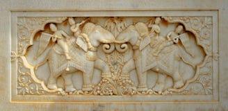 Indische marmeren gravure Stock Foto