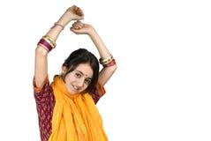 Indische meisje en laptop computer Royalty-vrije Stock Afbeelding