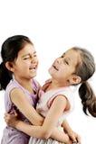 Indische meisjes/jonge geitjes die samen spelen. Royalty-vrije Stock Foto