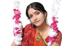 Indische meisjesclose-up. Stock Afbeelding