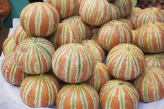 Indische meloenvruchten Stock Foto