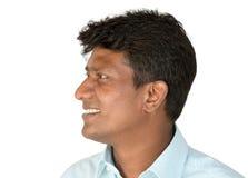 Indische mens die weg kijken Stock Foto's