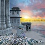 Indische mens in Varanasi Royalty-vrije Stock Afbeelding