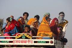 Indische Mensen op een vrachtwagen Royalty-vrije Stock Afbeelding