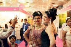 Indische mooie mannequins Stock Foto's