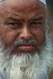 Indische Moslim oude mens Stock Afbeelding