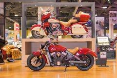 Indische Motorfietsen op vertoning Royalty-vrije Stock Afbeeldingen