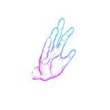 Indische mudra spirituality India yoga Vectorhand getrokken affiche, malplaatje, druk vector illustratie