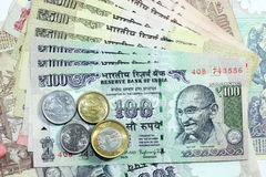 Indische Munt Royalty-vrije Stock Foto's