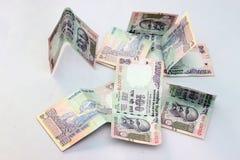 Indische munt van 100 Roepiesnota's Royalty-vrije Stock Foto